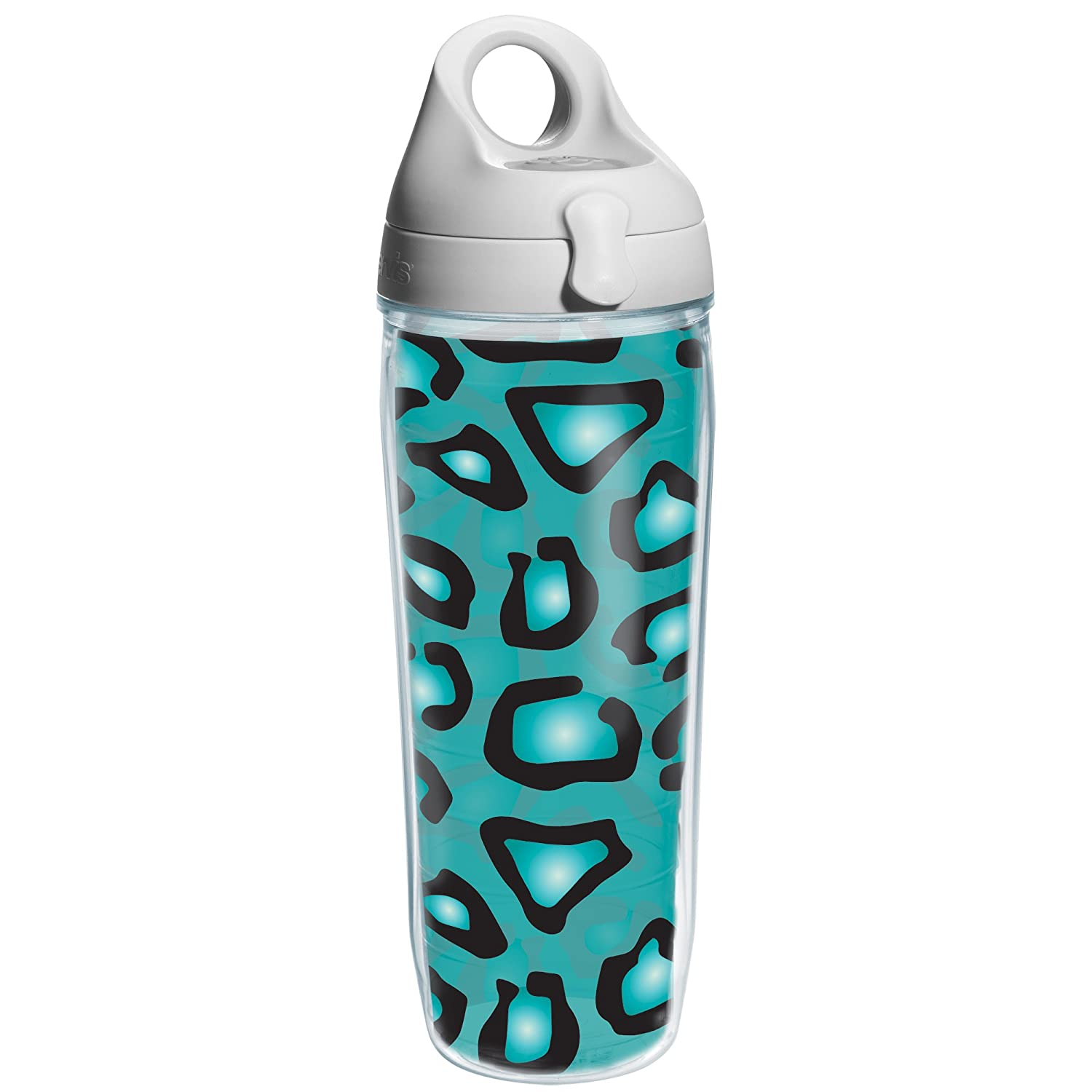 Clear 1178855 24 oz Tervis Leopard Print Teal Water Bottle