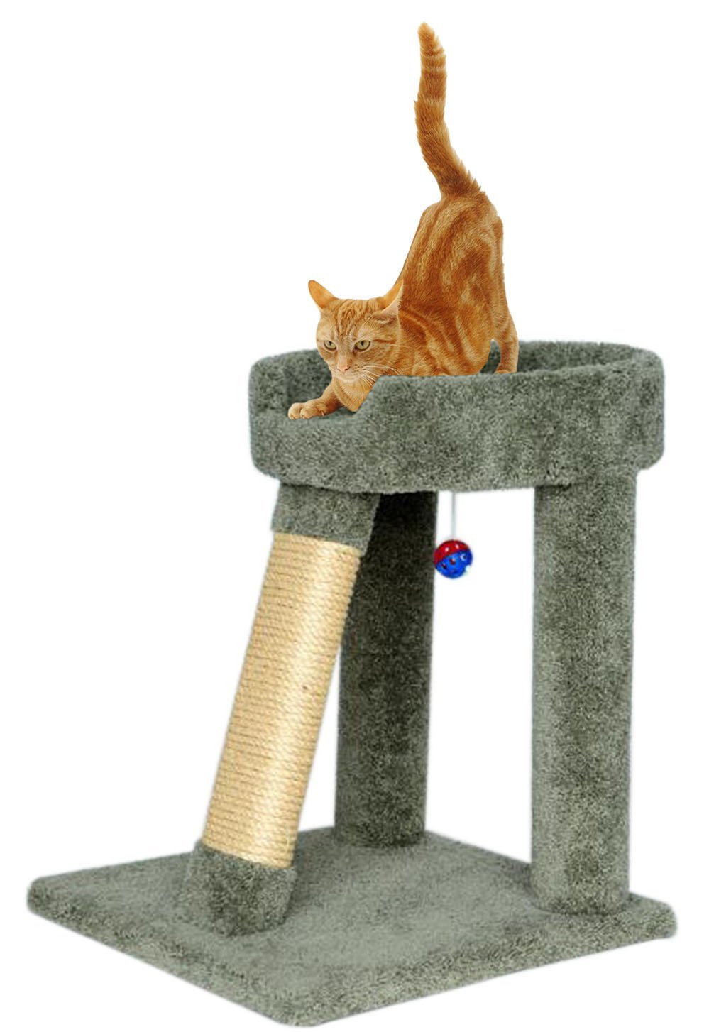 "Amazon.com : CozyCatFurniture 24"" Angled Cat Scratching Post 