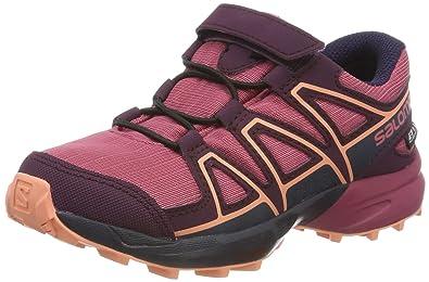 pretty nice 2ce2f d853d Salomon Speedcross CSWP K, Chaussures de Trail Mixte Enfant, Rouge  Malaga Potent Purple