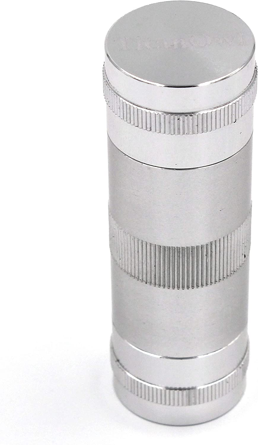 Portable Ashtray Stash Safe Spice Press Tool Tough Aluminum CNC 5 Piece 3.5 inch 2 Dowels Silver Black