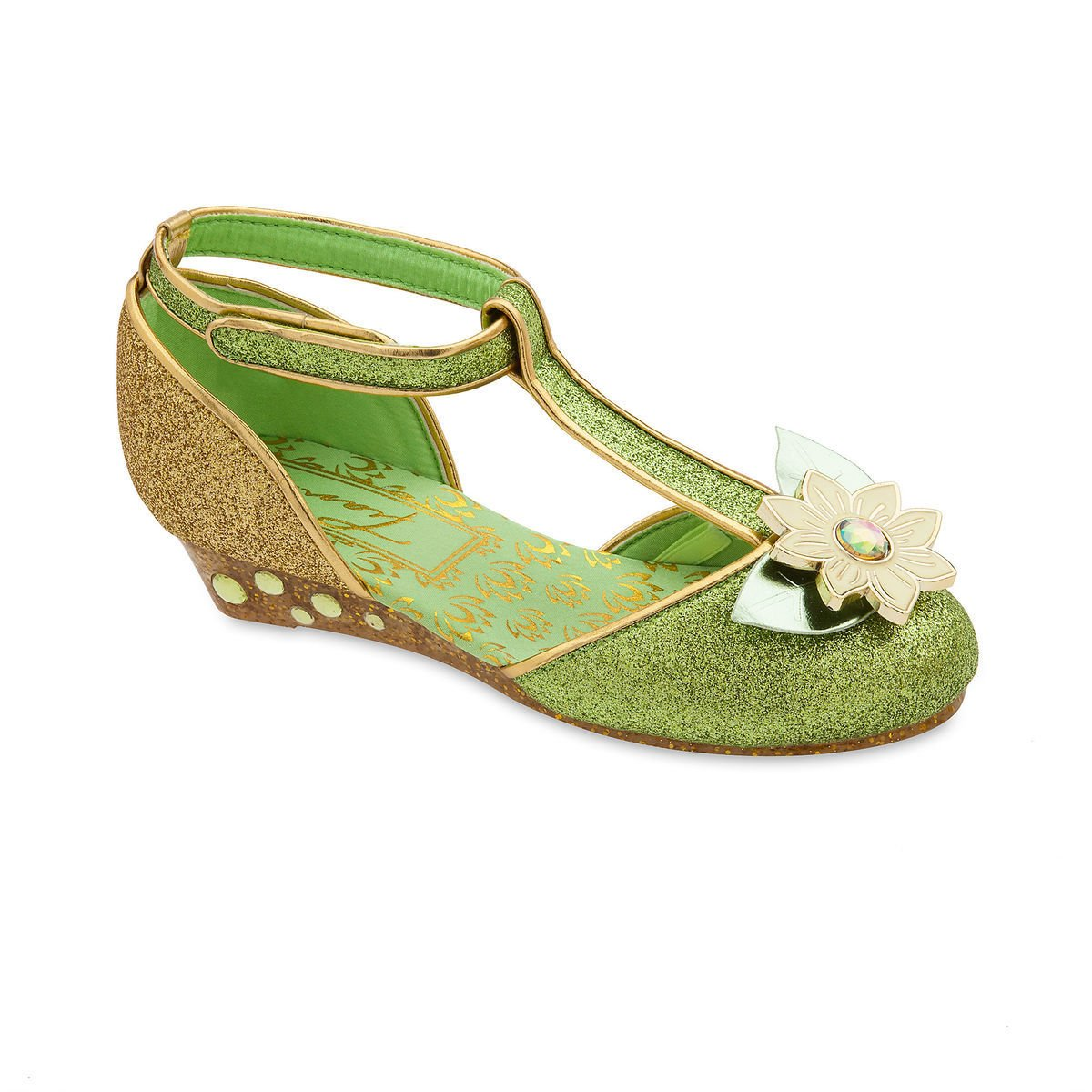 Disney Princess Tiana Costume Shoes for Kids - Green
