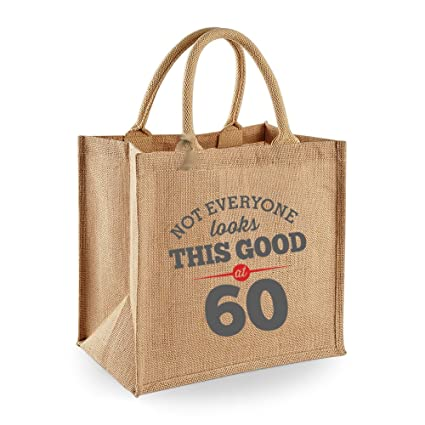 60th Birthday Keepsake Funny Gift For Women Novelty Ladies Shopping Bag Present Tote Idea Grey Design Amazoncouk Kitchen Home