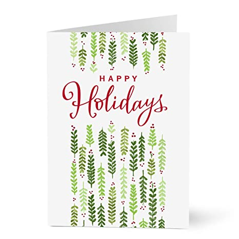 Business Christmas Cards.Hallmark Business Christmas Cards For Employees Happy Holidays Holly Pack Of 25 Greeting Cards
