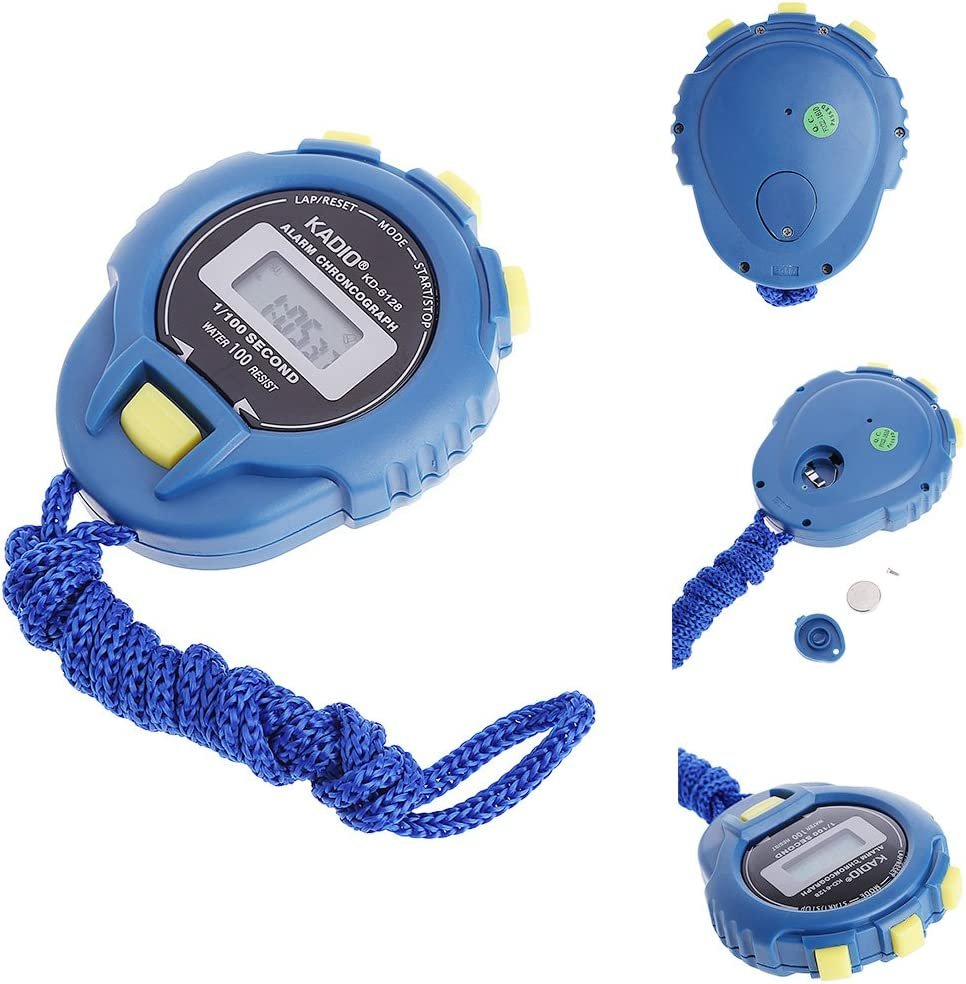PENG Handheld Digital LCD Sports Chronom/ètre Chronographe Counter Timer w//Strap