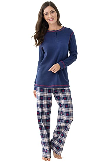 5d5c2251a2 PajamaGram Pajamas for Women Plaid - Thermal Top Women s Pajamas