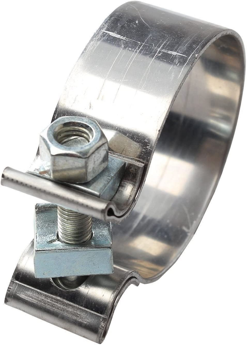 """Each 1.25/"""" Wide Vibrant 1169 Stainless Steel Band Clamp for 2.75/"""" Exhaust"""
