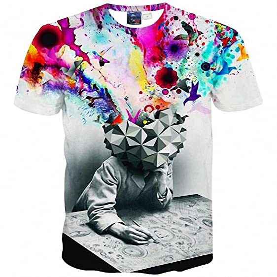 ICONLEE New 3d t-shirt men/boy brand t shirt casual sexy Hip Hop
