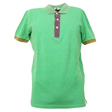 B3555 polo uomo ALTEA maglia manica corta verde t-shirt man short ...