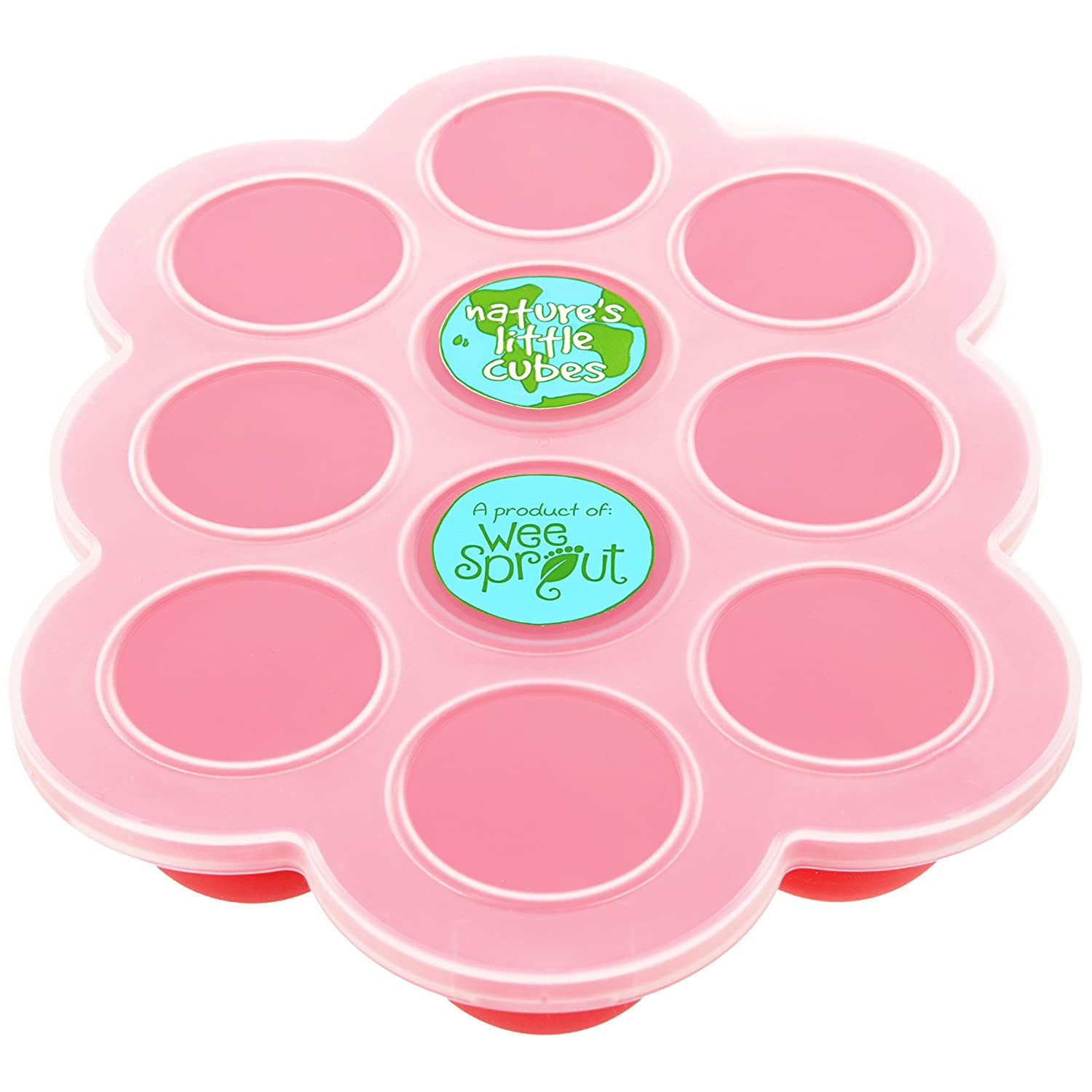 Silicone Baby Food Freezer Tray with Clip-on Lid by WeeSprout - Perfect Storage Container for Homemade Baby Food, Vegetable & Fruit Purees and Breast Milk - BPA Free & FDA Approved NLC-1.5-OR