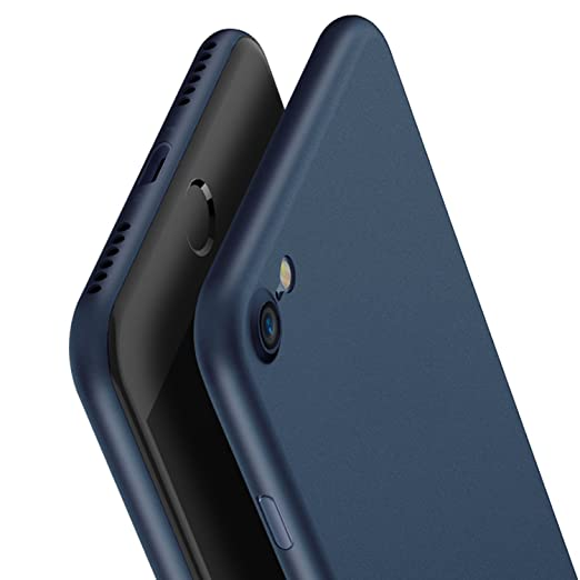 KAPA Super Thin Matte Finish [Full Coverage] Lightweight Back Case Cover for Apple iPhone 7   Blue