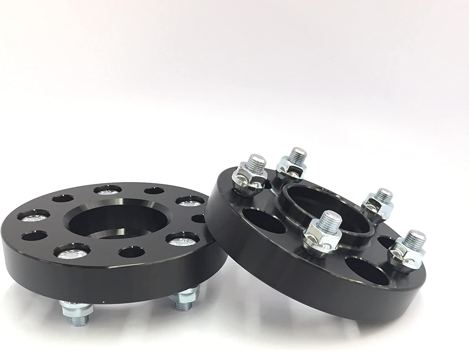 """Customadeonly 2 Pieces 1"""" (25mm) Black Hub Centric Wheel Spacers Bolt Pattern 5x120 Bore 72.6mm Thread Pitch 14x1.5 Studs Fits Range Rover 1996-2018, LR3 2005-2009, LR4 2010-2016"""