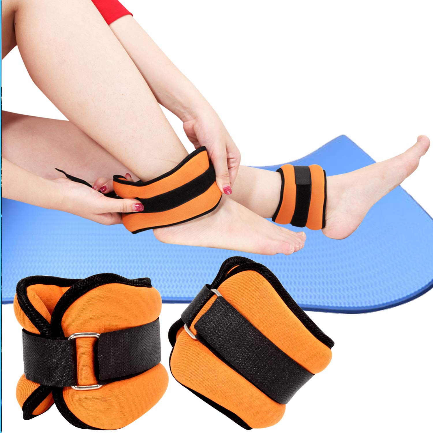 Amazon.com : Yetudo Durable Ankle/Wrist Weights (1 Pair, 2lb) for Women Men and Kids, Home Workout Ankle Strengthening & Toning Workouts for Fitness, ...