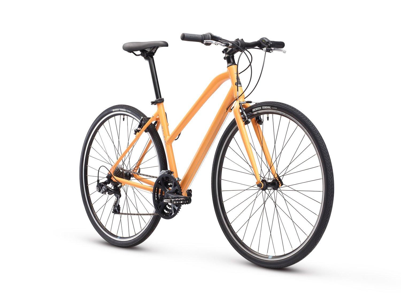 Orange Raleigh Bikes Alysa 1 Womens Fitness Hybrid Bike