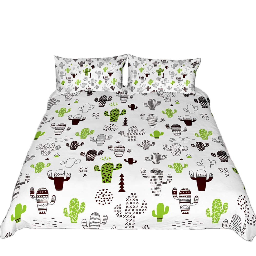 Tngan Bedding Duvet Cover Set 3Pcs Pineapple Cactus 3D Quilt Cover Pillowcases Picture 5 Pillowcase