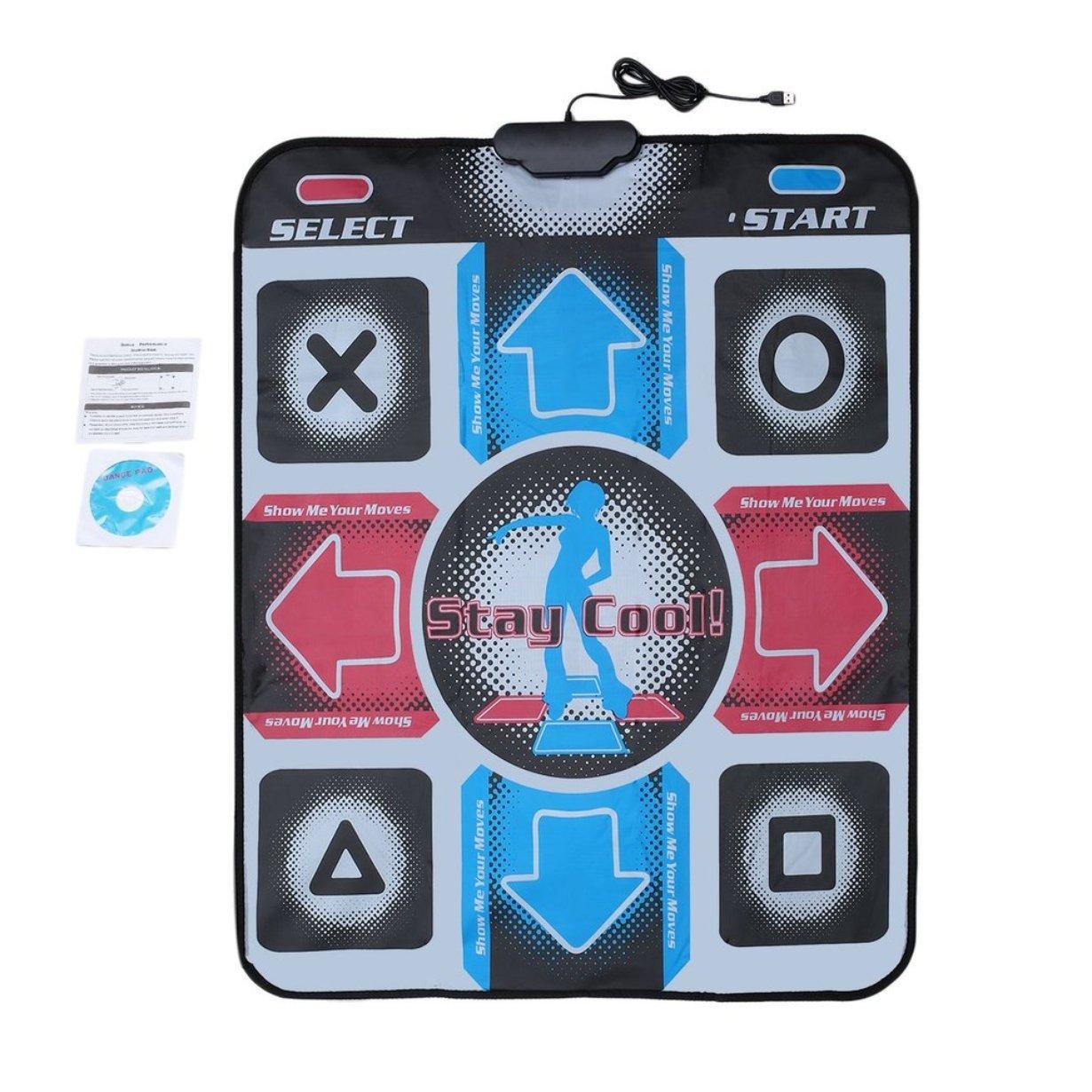 UniqueHeart Antideslizante Durable Resistente al Desgaste Baile Step Dance Pad Pad Pad Dancer Blanket para PC con USB para Culturismo Fitness