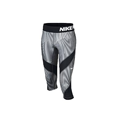 633571875946 Amazon.com  Nike Girls  Pro Hypercool Printed Training Capri (Little ...