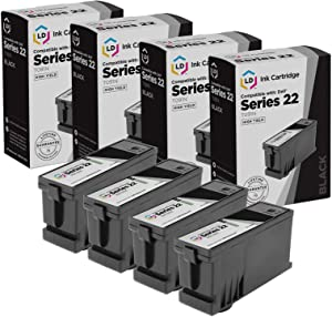 LD Compatible Ink Cartridge Replacement for Dell T091N Series 22 High Yield (Black, 4-Pack)