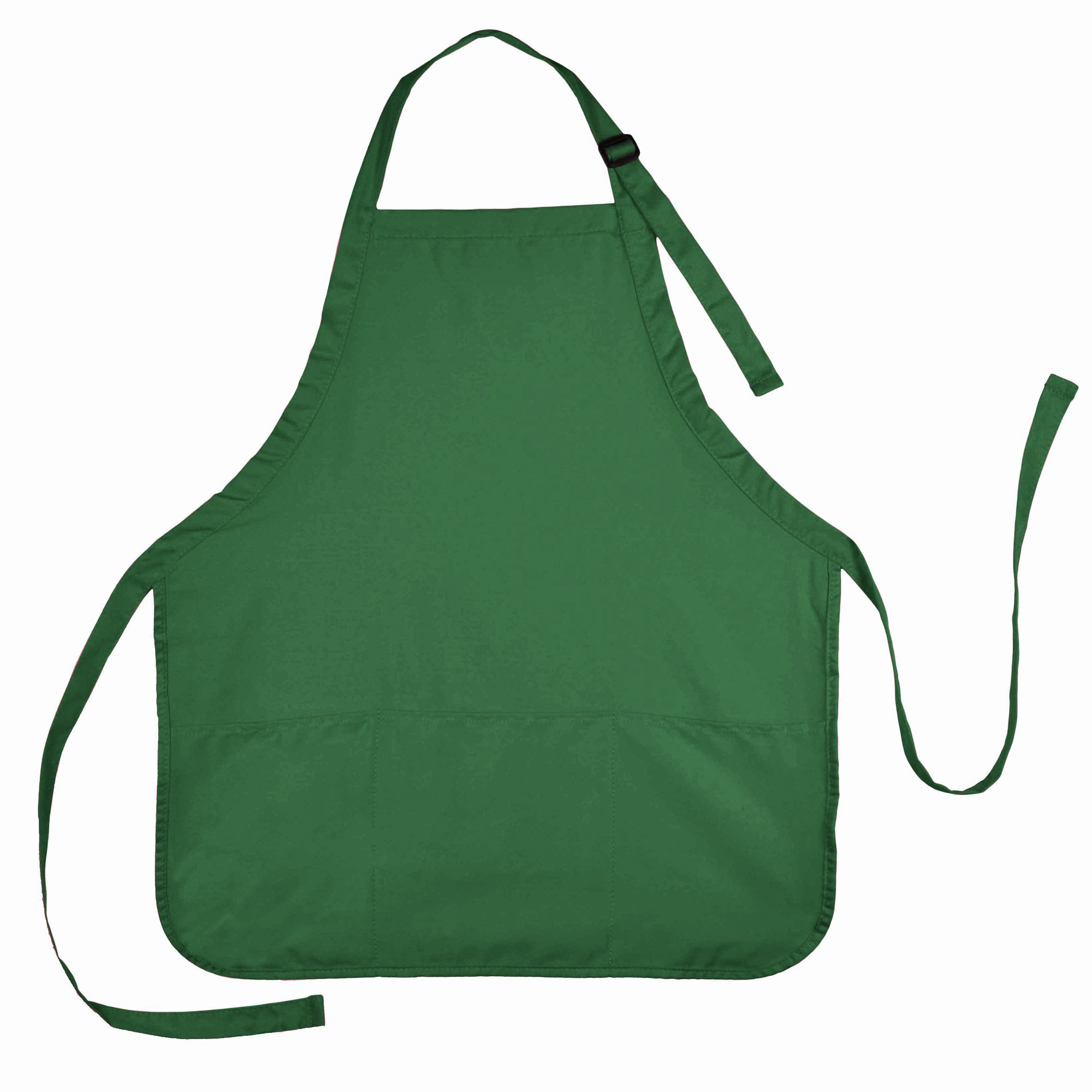 Apron Commercial Restaurant Home Bib Spun Poly Cotton Kitchen Aprons (3 Pockets) in Dark Green 72 PACK