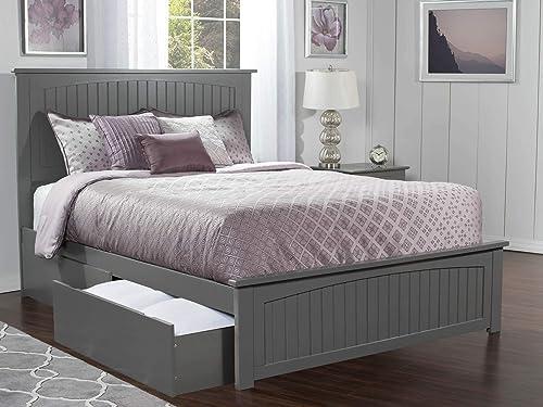 Atlantic Furniture AR8246119 Nantucket Platform Matching Foot Board and 2 Urban Bed Drawer