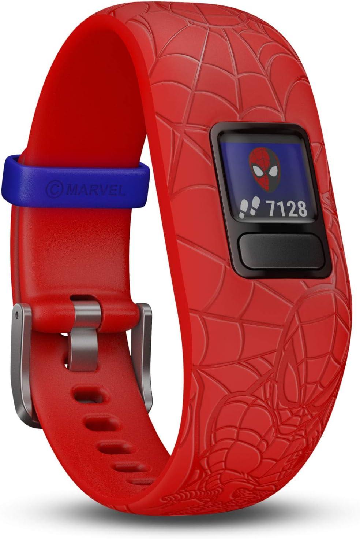 Garmin Kinder Vivofit Jr 2 Spiderman Red Fitness Tracker Marvel Spider Man Rot Ab 4 Jahren 130 175 Mm Handgelenkumfang Sport Freizeit