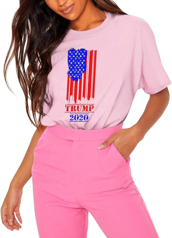 Women Tee Simple Trump-2020 T Shirts Soft Cotton T-Shirt