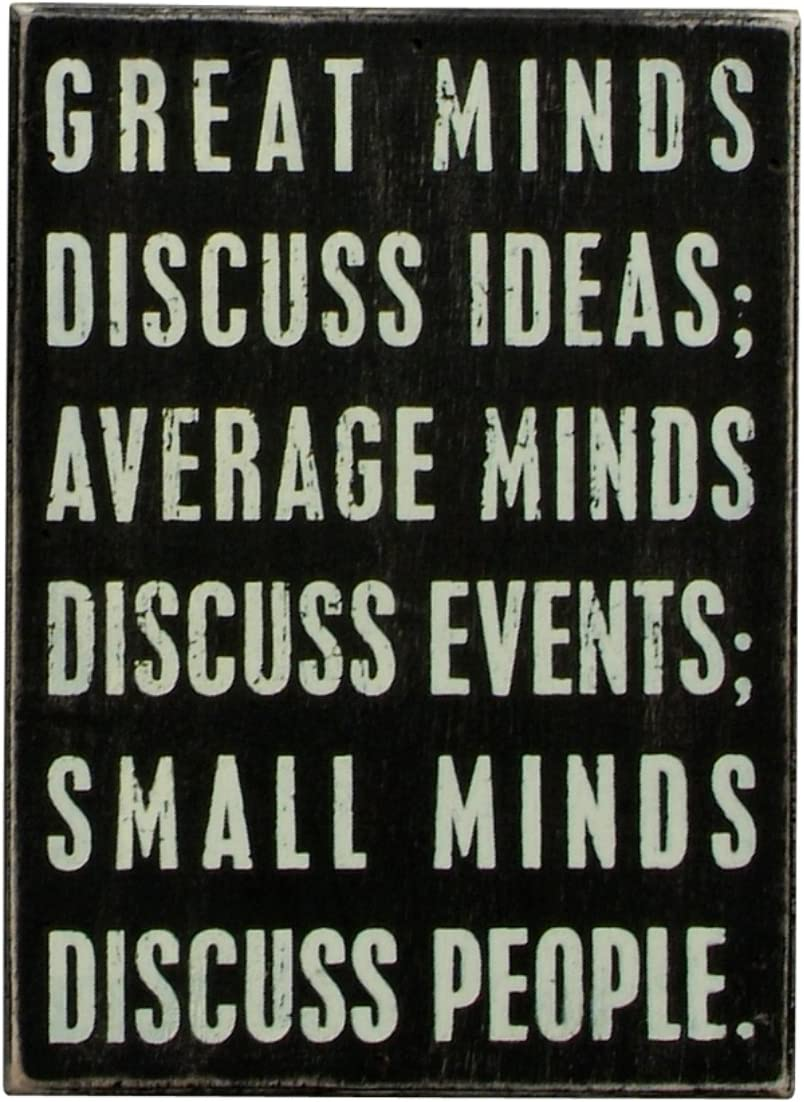 Primitives by Kathy Classic Box Sign, 6 x 8-Inches, Minds