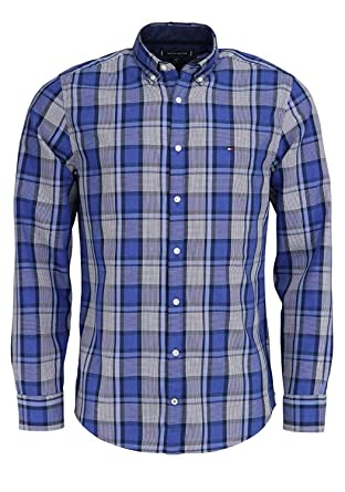 3ae288fb Tommy Hilfiger MW0MW07779 Shirts Man: Amazon.co.uk: Clothing