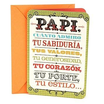 Hallmark Vida Spanish Birthday Greeting Card To Father Papi