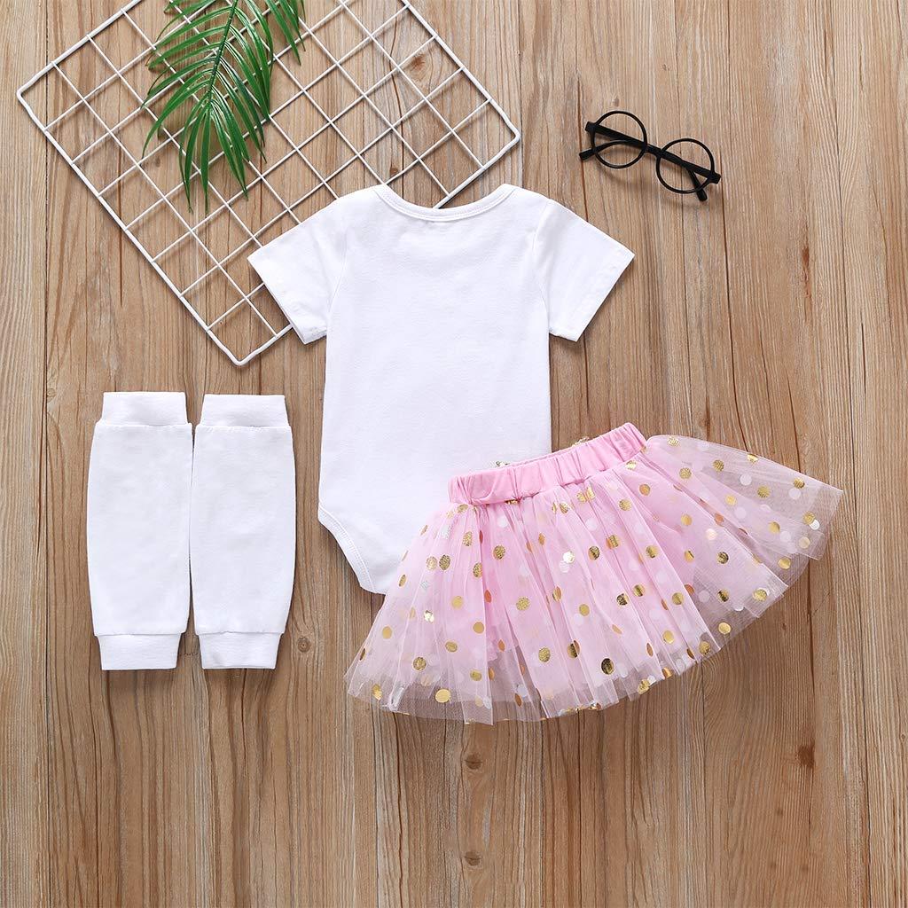 Rabbit Leg Warmers 3PCS Outfits Golden Dots Tutu Skirt AR-LLOYD Baby Girls Easter Skirt Set Infant Girl Bunny Romper