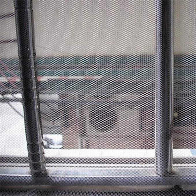 BAIXL Mosquitera Fija magnética, protección Anti Insectos Moscas Correa Adhesivo Cremallera fácil instala Puede Lavar Duradero Cortina Pantalla Ventana Verano,White1.3 * 1.5M: Amazon.es: Hogar
