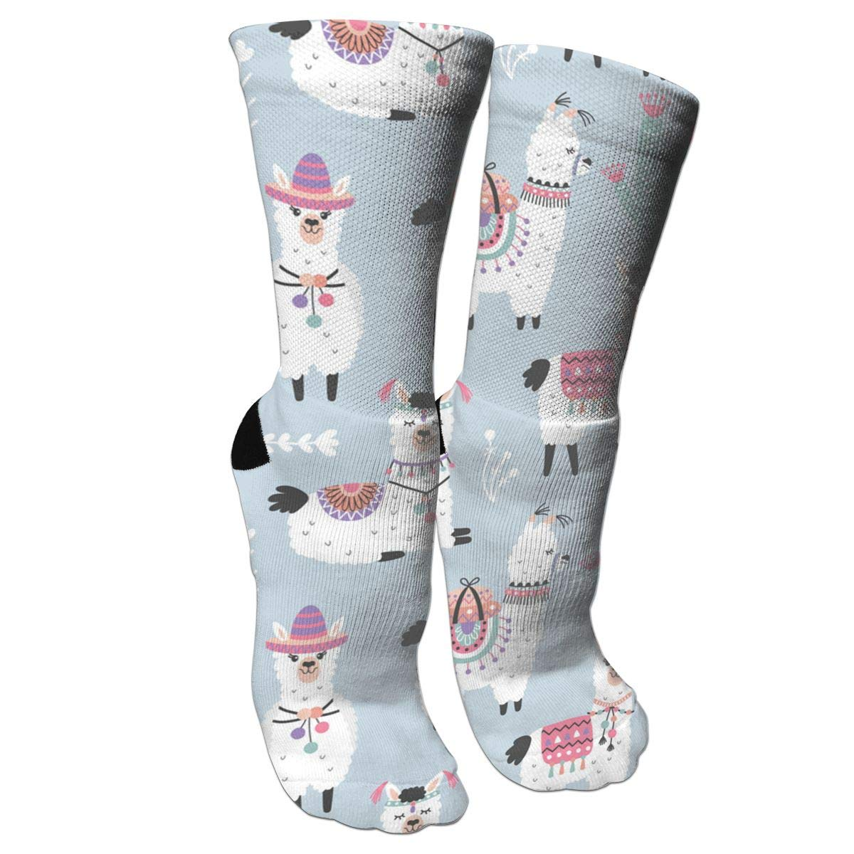 Ygsdf59 Cartoon Llama Best Medical,for Running Compression Socks for Women and Men Varicose Veins Travel Athletic 1