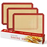 Winner Outfitters Kitchen Silicone Baking Mat Non Stick Silicone Mats for Macaron/Pastry/Cookie/ Bread Making(15.7x11.8-INCH,3 Pcs)