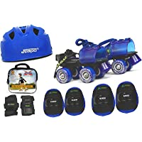 Jaspo Kids Delite Pro Junior Skates Combo (Skates+Helmet+Knee+Elbow+Wrist+Bag) Suitable for Age Upto 5 Years