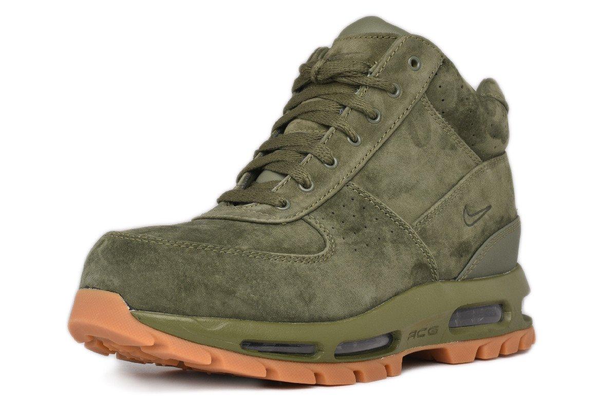 Nike Air Max Goadome 2013 Mens Boots Army Olive Gum Suede ACG 599474-300 (8.5)