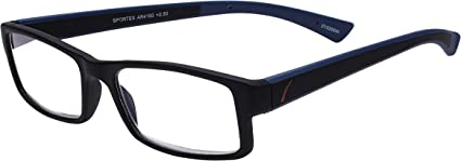 Amazon Com Select A Vision Mens Sportex Ar4160 Blue Reading Glasses Blue 29 Mm Us Shoes What lens strength is available? amazon com select a vision mens