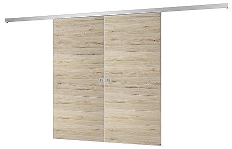 Porta scorrevole legno divisorio Camera Porta 1760 X 2035 mm 2 ante ...
