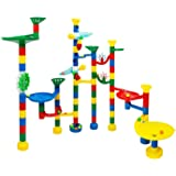 USA Toyz Marble Run - Deluxe 85 Piece Marble Track Game - Plus 50 Marbles