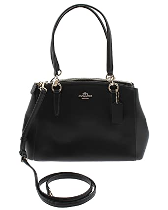 cc67172af221 Coach Small Christie Carryall In Crossgrain Leather Imitation Gold black  94150