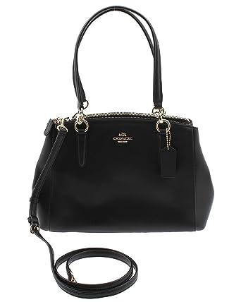b64ddee6ddb8 Coach Small Christie Carryall In Crossgrain Leather Imitation Gold black  94150