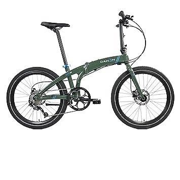 Dahon Faltrad IOS D9 9 Gang Khaki 24 Zoll Grün Klapp Fahrrad Universal Faltrahmen Kettenschaltung,