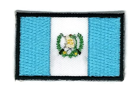 Parche para planchar con la bandera de Guatemala bordado, tamaño mediano