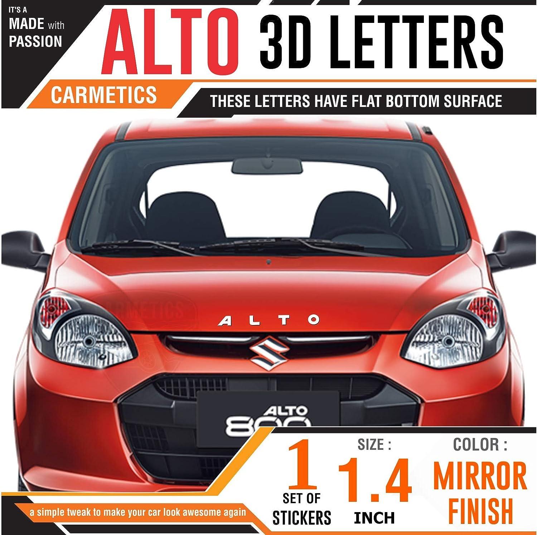Carmetics alto 3d letters 3d stickers bonnet 3d logo accessories exterior graphics bonnet stickers with chrome petrol sticker for maruti suzuki alto k10
