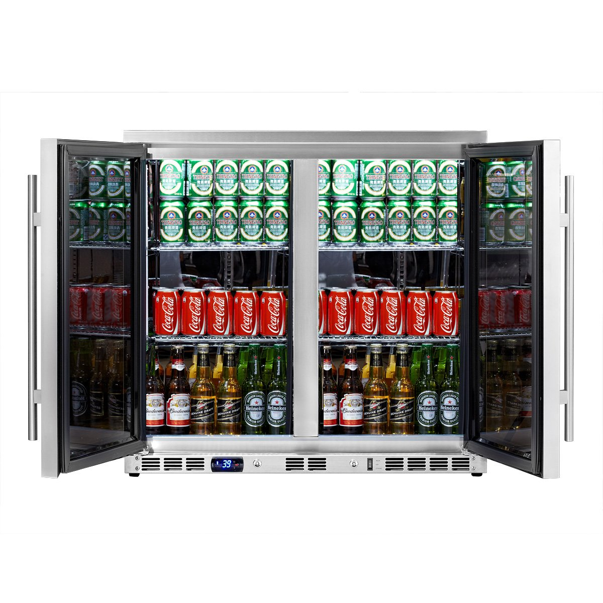 Amazon.com: KingsBottle 169 Can 2-Door Under Counter Beverage ...