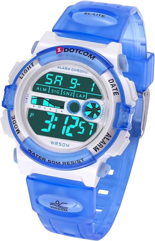 Socico Niños Digital Relojes para Niños Deportes-5 ATM Reloj ...