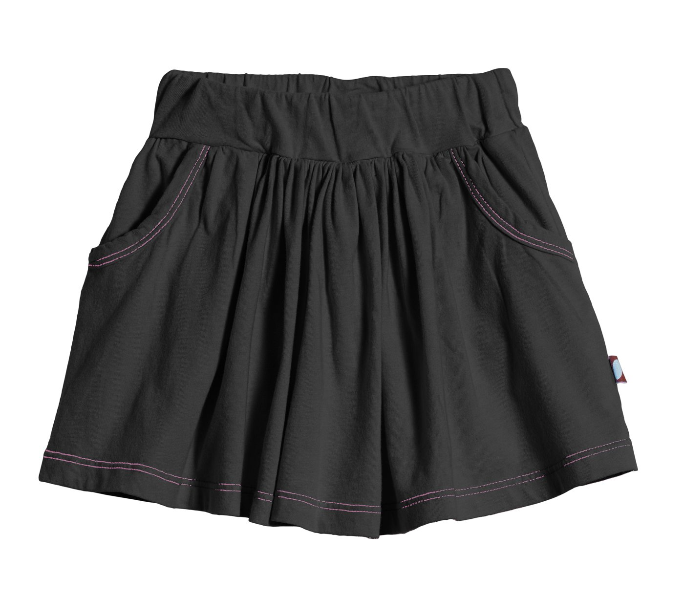 City Threads Girls' Skort Skirt Shorts For Play School or Fun, Extra Soft 100% Breathable Cotton Perfect for Sensitive Skins and SPD Sensory Sensitive, Black4