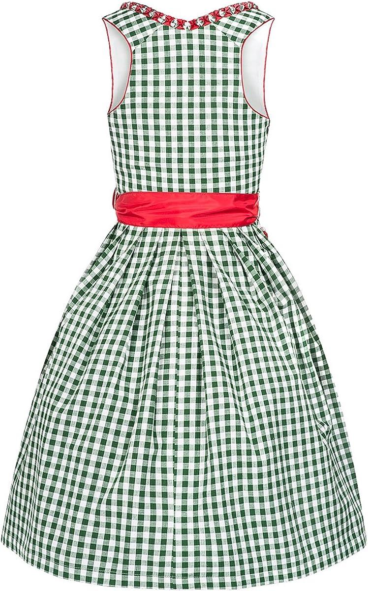 Dirndl Linda 2 TLG Damen 100/% Baumwolle Tracht /& Pracht - Kleid Karo