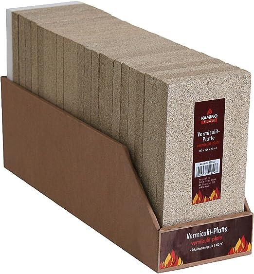 Kamino Flam Plancha de Vermiculita Beige 12.4x3x25 cm 333322