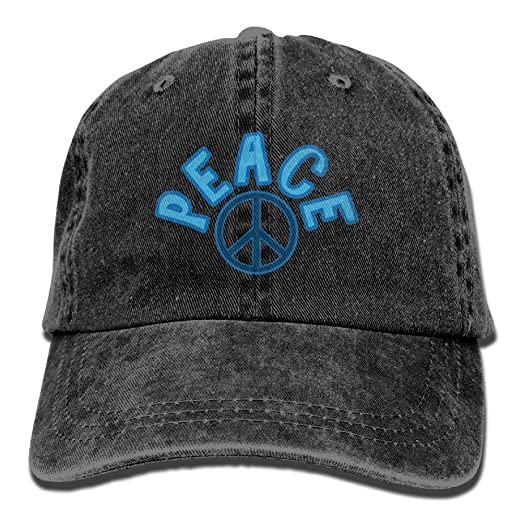 ce3e79b4b42 Amazon.com  World Peace Sign Unisex Cowboy Hat Personalized For Man And  Woman  Clothing