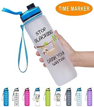 Amazon.com: Fidus - Botella de agua grande de 1 litro con ...