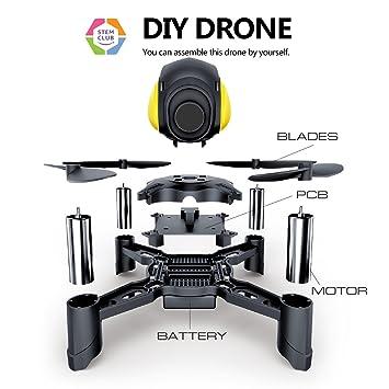 Amazon maxxrace stem rc toys diy mini racing drone headless maxxrace stem rc toys diy mini racing drone headless mode 24ghz nano led rc quadcopter solutioingenieria Image collections